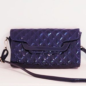 Handbags - Purple quilted patent leather (faux)  bag